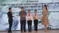 Học sinh lớp 7 giành giải đặc biệt cuộc thi về phòng chống thiên tai