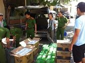 Bắt giữ xe chở thuốc lá lậu từ Quảng Trị vào Đà Nẵng