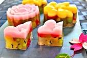 Giải nhiệt ngày nắng với món thạch rau câu hoa quả mát lạnh
