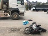 Nam sinh bị xe bồn tông gãy chân trên đường đi thi THPT quốc gia về nhà