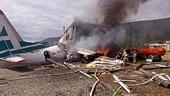 Máy bay Nga bốc cháy sau khi hạ cánh khẩn cấp gây nhiều thương vong