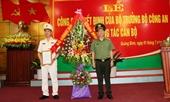 Phó Chánh Thanh tra Bộ Công an làm Giám đốc Công an tỉnh Quảng Bình