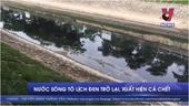 Nước sông Tô Lịch đen trở lại, xuất hiện cá chết