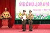 Bổ nhiệm lại Phó Giám đốc Công an TP Hà Nội