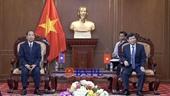 Viện trưởng VKSND tối cao Lê Minh Trí tiếp Chánh án TAND tối cao Lào