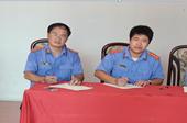 Cán bộ VKSND huyện Ninh Giang tham gia hiến máu tình nguyện