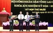 Lai Châu bầu tân Phó Chủ tịch UBND tỉnh