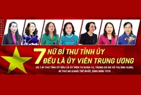 Cả nước có 7 nữ Bí thư Tỉnh ủy, đều là Ủy viên Trung ương