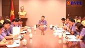 Ban nội dung họp về việc tổ chức kỷ niệm 60 năm ngày thành lập ngành KSND