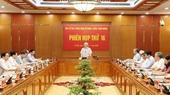 Ban Chỉ đạo Trung ương về phòng chống tham nhũng họp phiên thứ 16