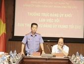 Thường trực Đảng ủy Khối các cơ quan Trung ương làm việc với Ban Thường vụ Đảng ủy VKSND tối cao