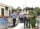Huyện Hương Sơn tiêu hủy số lượng lớn đao kiếm, súng tự tạo, vật liệu nổ