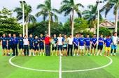 Quế Ngọc Hải, Nguyên Mạnh giao lưu bóng đá gây quỹ từ thiện ở Hà Tĩnh