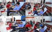 Đoàn viên Công đoàn Viện kiểm sát nhân dân TP Vĩnh Long tham gia hiến máu tình nguyện