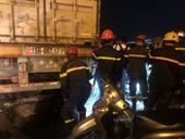 Thông tin bất ngờ vụ tai nạn trên cầu Thanh Trì giữa container và 3 xe máy