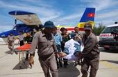 Điều máy bay cấp cứu một đại úy bị nạn tại Trường Sa