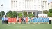 Giao lưu bóng đá giữa Văn phòng VKSND tối cao với Công an phường Yên Hòa