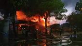 Hình ảnh hiện trường vụ cháy dữ dội tại Hải Phòng