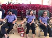 Đoàn viên Công đoàn VKSND Đắk Nông hiến máu nhân đạo