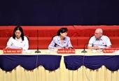 Bà Nguyễn Thị Quyết Tâm tiếp xúc cử tri Thủ Thiêm