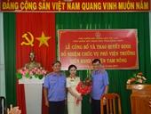 VKSND huyện Tam Nông có tân nữ Phó Viện trưởng