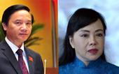 Quốc hội sẽ miễn nhiệm Chủ nhiệm Uỷ ban Pháp luật và Bộ trưởng Y tế
