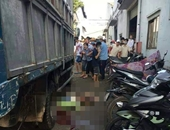 Nữ tạp vụ bị xe tải lùi cán chết thương tâm ngay trong công ty
