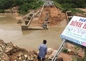 Cầu sập lần hai, hơn 300 hộ dân bán đảo bị cô lập