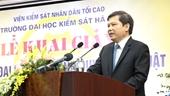 Viện trưởng Lê Minh Trí dự lễ Khai giảng tại trường ĐH Kiểm sát Hà Nội