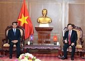 Viện trưởng Lê Minh Trí tiếp Đoàn đại biểu nước CHDCND Lào