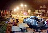 Thời khắc định mệnh xe taxi bị xe khách đâm, 3 người tử nạn