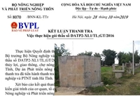 Bộ NN PTNT chỉ ra nhiều sai phạm tại một gói thầu thuộc dự án ODA ở Hà Tĩnh