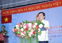 """Viện trưởng Lê Minh Trí dự ngày hội """"Đại đoàn kết toàn dân tộc"""" tại TP Hồ Chí Minh"""