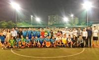 Đội bóng đá VKSND tối cao và VP Bank AMC thi đấu giao hữu