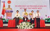 Nghệ An bầu bổ sung hai Phó Chủ tịch UBND tỉnh tuổi 6X