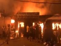 Lại cháy chợ ở Bình Phước, hàng chục kiot cùng tài sản bị thiêu rụi