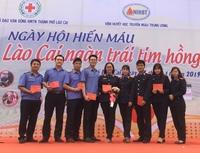 Cán bộ VKSND tham gia Ngày hội hiến máu Lào Cai ngàn trái tim hồng