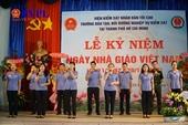 Trường Đào tạo, Bồi dưỡng nghiệp vụ Kiểm sát kỷ niệm Ngày Nhà giáo Việt Nam