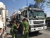 5 ô tô tông nhau, tài xế đi cấp cứu, phụ xe chết trong cabin