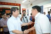 Viện trưởng Lê Minh Trí tiếp xúc cử tri tại TP Hồ Chí Minh sau kỳ họp thứ 8