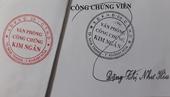 Phát hiện giả chữ kí, con dấu của Văn phòng công chứng