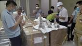 Giám định 55 mẫu sừng tê giác trọng lượng hơn 125kg tịch thu tại sân bay quốc tế Nội Bài