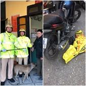 Trên đường tuần tra, cảnh sát giao thông bắt giữ 2 cẩu tặc