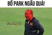 Chết cười với ảnh chế Văn Hậu, thầy Park sau khi U22 giành huy chương vàng