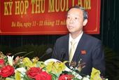 Bà Rịa-Vũng Tàu có tân Chủ tịch UBND tỉnh