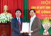 Hà Nam điều động, chỉ định Phó Chủ tịch UBND tỉnh giữ chức Bí thư Huyện ủy