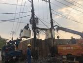 Xe tải gây nổ trạm biến áp, 300 hộ dân mất điện