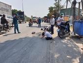 Xe đầu kéo lấn làn xe máy, người phụ nữ chết thảm ở ngã tư Sida