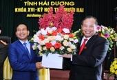 Bí thư Thành ủy Chí Linh giữ chức Phó Chủ tịch UBND tỉnh Hải Dương
