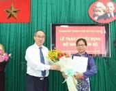 Bà Lê Thị Thanh Thúy giữ chức Phó Trưởng Ban Tổ chức Thành ủy TP HCM